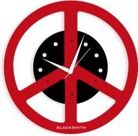Blacksmith Black & Red Peace Analog Wall Clock Red