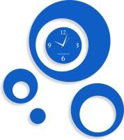 Blacksmith Multi Round Blue Analog Wall Clock Light Blue