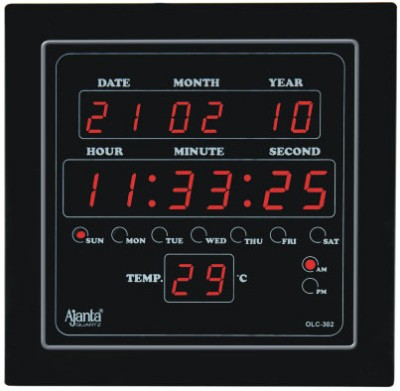 Ajanta Olc 302 Digtal Wall Clock Black Available At