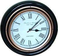 E-Studio Analog Wall Clock Black, Brass, With Glass