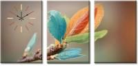 Design O Vista Three Panel DV3-S-R1106 Analog Wall Clock (Multicolor)