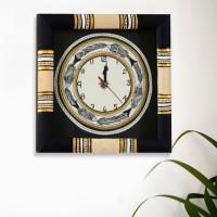 ExclusiveLane Analog Wall Clock Black, Black, With Glass
