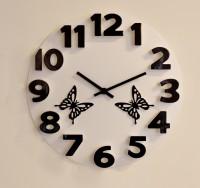 Basement Bazaar 3D Butterfly Analog Wall Clock (White)