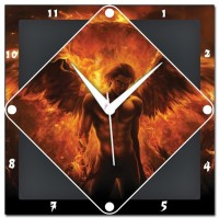 Amore Amore Burning Angel 107397 Analog Wall Clock (Red)