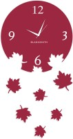 Blacksmith Falling Leaves Wine Analog Wall Clock Lilac
