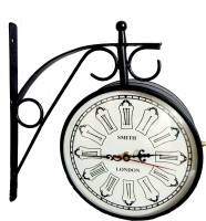 007 Bond Hut 8 Inch Double Side Station Analog Wall Clock Black