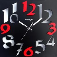 Random Time Zone - Black Analog Wall Clock Black