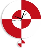 Blacksmith Analog Wall Clock Red White, Without Glass