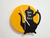 Blacksmith Alice In Wonderland Mad Tea Party Analog Wall Clock (Black, Yellow)
