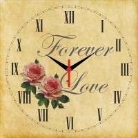 Go Hooked Forever Love Printed Analog Wall Clock Multicolor