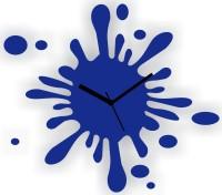 Zeeshaan Splash Blue Analog Wall Clock Blue