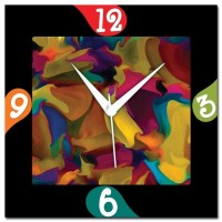 Rainbow Amore Rainbow Abstract 107275 Analog Wall Clock (Multicolor)