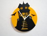 Blacksmith Halloween Haunted Mansion Analog Wall Clock (Black, Yellow)