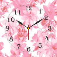 Go Hooked Floral Print Analog Wall Clock Multicolor - WCKE2MDZPGYGFHFV