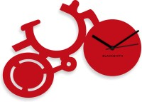Blacksmith Red By Cycle Analog Wall Clock Red