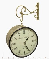 Prachin Street 8 Inch Analog Wall Clock - Antique Brass