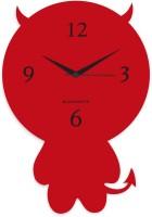 Blacksmith Red Cute Cartoon Analog Wall Clock Red