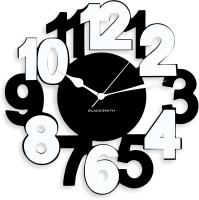 Blacksmith Black & White Classic Numbers Analog Wall Clock Black