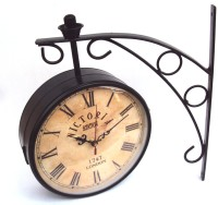 Artondoor 12 Inch Station Double Side Antique Dial Analog Wall Clock - Black