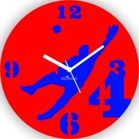 Zeeshaan Cricket Gavaskar'S Jump Analog Wall Clock Red, Blue