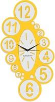Blacksmith Yellow Overlapped Numbeer Analog Wall Clock Traffic Yellow