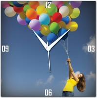 Amore Amore Bellon Girl Analog Wall Clock (Blue)