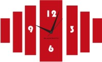 Blacksmith Red Simple Bars Analog Wall Clock Red