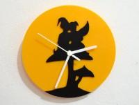 Blacksmith Elves On Mushroom Analog Wall Clock (Black, Yellow)
