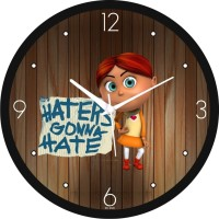 Regent Haters Gonna Hate Analog Wall Clock (Shiny Black)