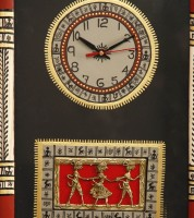 Unravel India Analog Wall Clock Red Border With Black Base, Without Glass