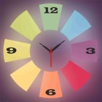 Go Hooked Designer Print Analog Wall Clock Multicolor - WCKE2MDZFQK74Q4S