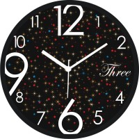 Regent Abstract Star Work With Desgniner Analogwall Clock Analog Wall Clock (Shiny Black)