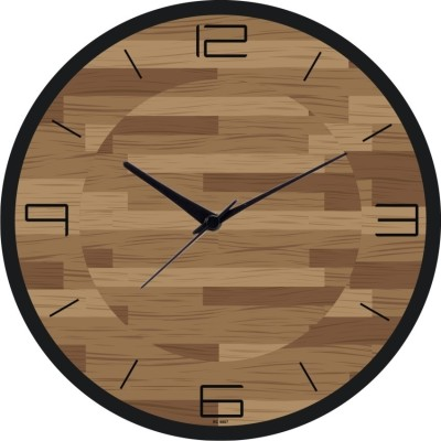 Compare Regent Wooden Art Work Analog Wall Clock Shiny Black at Compare Hatke