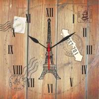 Go Hooked Eiffel Printed Analog Wall Clock Multicolor