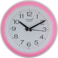Victor Analog Wall Clock Pink, With Glass