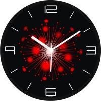 Regent Red Ballon Art Analog Wall Clock (Shiny Black)