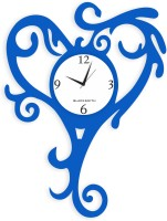 Blacksmith Heart Tail Blue Analog Wall Clock Light Blue
