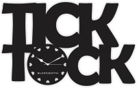 Blacksmith Tick Tock Black Analog Wall Clock Black