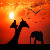 Go Hooked Animals Printed Analog Wall Clock Multicolor