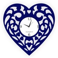 Blacksmith Heart Throb Love Blue Analog Wall Clock Dark Blue