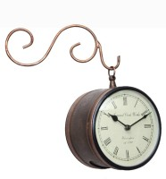 Kakori Small Sized Handcrafted Platform In Copper Color. Analog Wall Clock - Copper