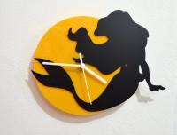 Blacksmith Ariel The Little Mermaid Analog Wall Clock (Black, Yellow)