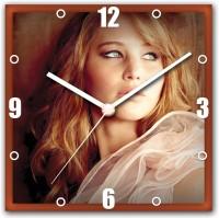 StyBuzz Jennifer Lawrence White Analog Wall Clock Multicolor