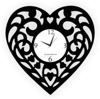 Blacksmith Heart Throb Love Black Analog Wall Clock Black