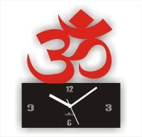 Zeeshaan Flowers Design Analog Wall Clock Red