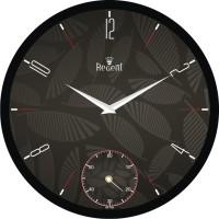 Regent Leaf/leaves Texture Analog Wall Clock (Black)