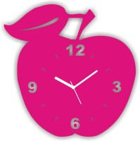 Zeeshaan Analog Wall Clock Pink, With Glass