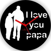 Zeeshaan I Love You Papa Analog Wall Clock Black, White