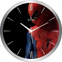 Regent Silver Spider Man Face Analog Wall Clock (Shiny Silver)