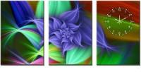 Design O Vista Three Panel DV3-L-R9002 Analog Wall Clock (Multicolor)